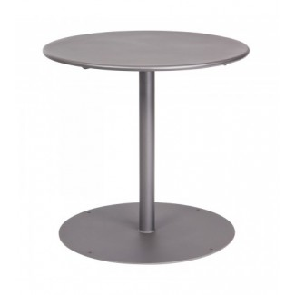 13L3RD30 30 Round Solid Top Restaurant Dining Table with Pedestal Base Commercial Wrought Iron Round Table